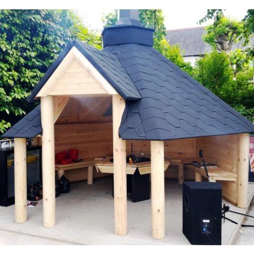 abri nordique kota ouvert grill barbecue