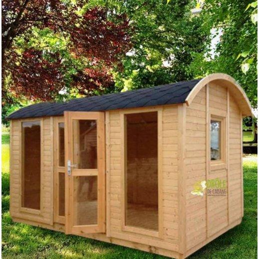 Bureau de jardin en bois moderne