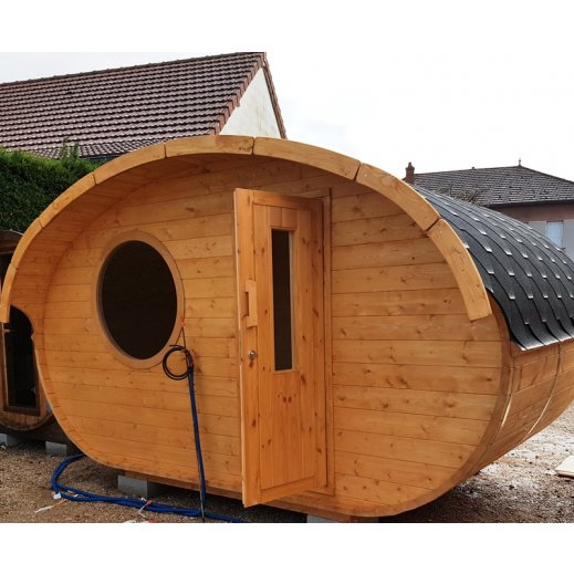 cabane ovale habitable