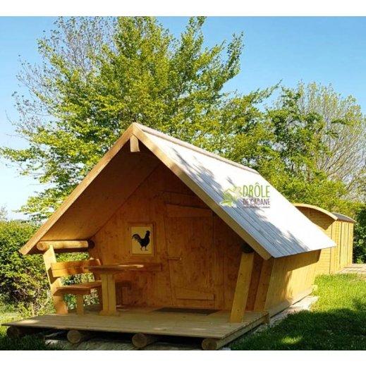 Habitat léger de loisir lodge bois