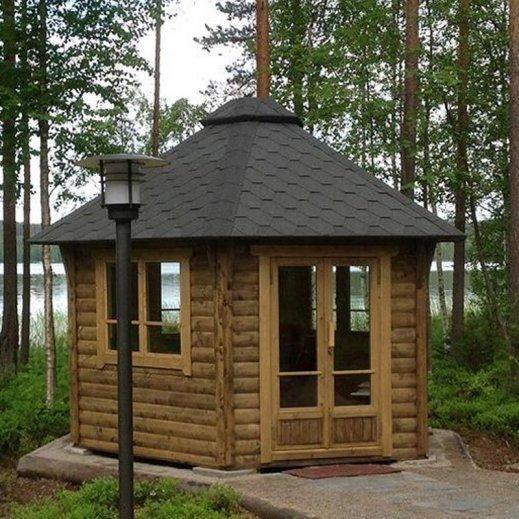 Pavillon de jardin hexagonal