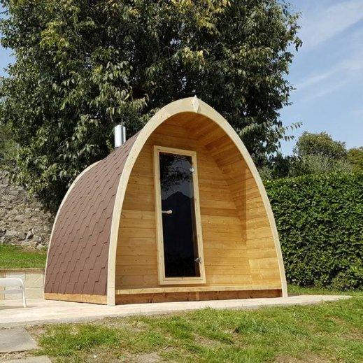 Sauna POD bois traité