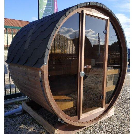 sauna tonneau de terrasse PANORAMIQUE