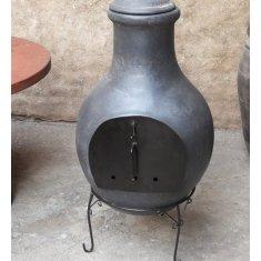 Braséro Mexicain hauteur 113 cm gris