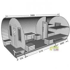 ice hutte 5m90 ≈ 16m²
