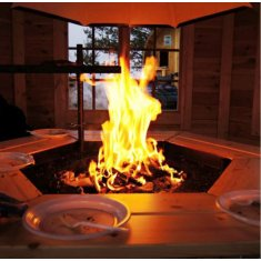 Pavillon grill ≈ 9m²  hexagonal