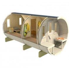 Tonneau Sauna 400 (KIT)