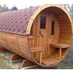 Tonneau Sauna 400 (monté)